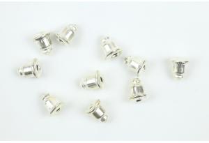 Бижутерия: заглушка для сережек-пуссет, 5 мм, металл
