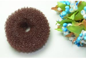 Бублик для волос, 6 см, маленький, коричневый