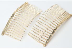 Основа гребешок для волос металл 7,5x4 см, цвет - золото