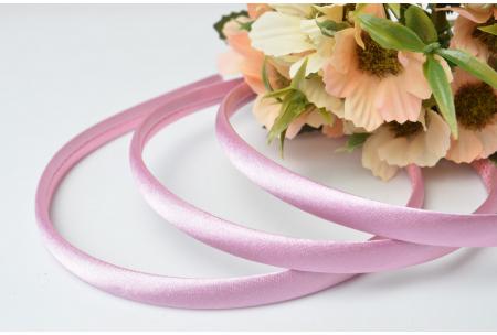 Обруч пластиковый в атласе, 0,9 см, розовый