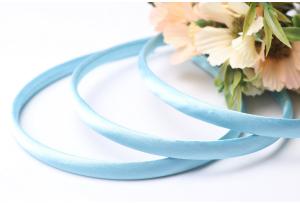 Обруч пластиковый в атласе, 0,9 см, голубой