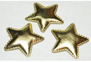 Патч, звездочка (экокожа), 5 см, золото