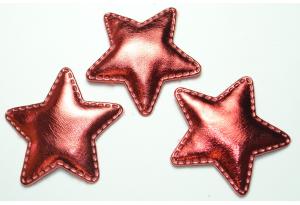 Патч, звездочка (экокожа), 5 см, красный