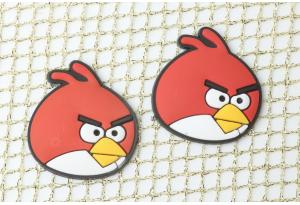 Патч силиконовый, мягкий 27x25 мм, Angry Birds