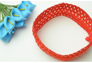 Повязка (тонкая вязка), 4 см, красная