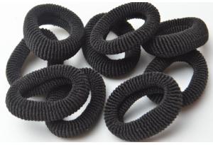 Резинка для волос Калуш махровая, 4-4.5 см, черный