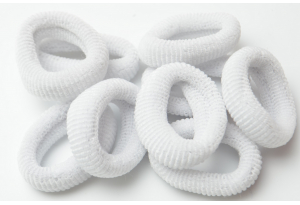 Резинка для волос Калуш махровая, 4-4.5 см, белый