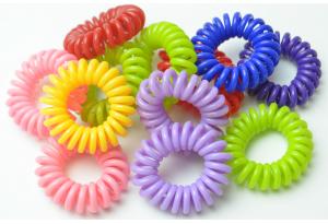 Резинка для волос силиконовая, 3 см, цветной микс