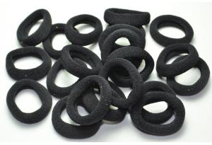 Резинка для волос Калуш (велюрчик), 2.7 см, черный