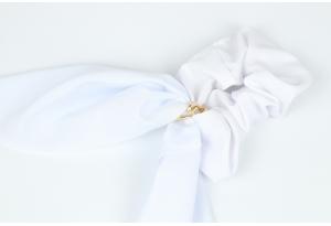 Резинка Твилли с цепочкой, 27 см, белая