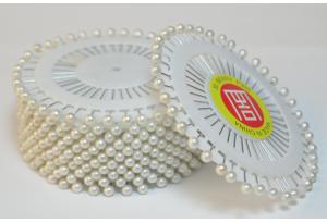 Швейные булавки с шариком, белые