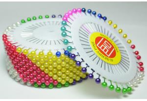 Швейные булавки с шариком, цветные