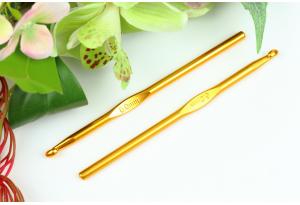Крючок для вязания, алюминиевый, 6.0 мм