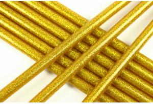 Термоклей 7 мм, с глиттером золотой, длина 20 см