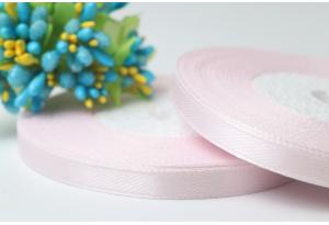 Атласная лента 0.6 см, кремово-розовая, 90