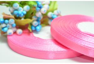 Атласная лента 0.6 см, розовая