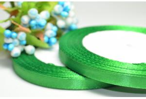 Атласная лента 0.6 см, зеленая