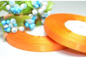 Атласная лента 0.6 см, оранжевая