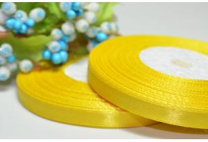 Атласная лента 0.6 см, желтая