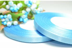 Атласная лента 0.6 см, голубая
