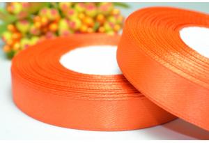 Атласная лента 1.2 см, темно-оранжевая