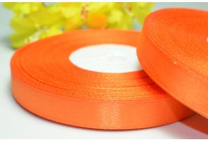 Атласная лента 1.2 см, оранжевая