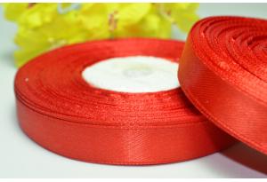 Атласная лента 1.2 см, красная