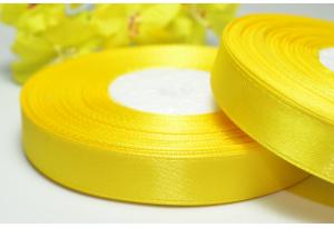 Атласная лента 1.2 см, желтая