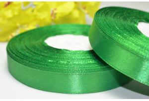 Атласная лента 1.2 см, зеленая