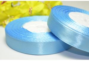 Атласная лента 1.2 см, светло-голубая, 103