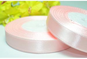 Атласная лента 1.2 см, нежно-розовая