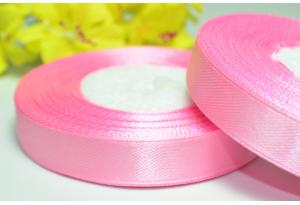 Атласная лента 1.2 см, розовая