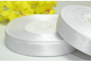 Атласная лента 1.2 см, белая