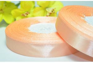 Атласная лента 1.2 см, персиковая