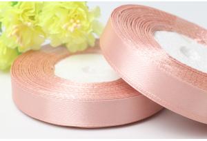 Атласная лента 1.2 см, пастельно-розовая, 135