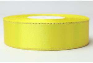 Атласная лента 2.5 см, с люрексом (золото), желтая