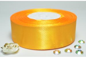 Атласная лента 2.5 см, однотонная, золото