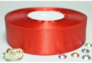 Атласная лента 2.5 см, однотонная, красная