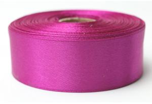 Атласная лента 2.5 см, однотонная, фиолетовая фуксия