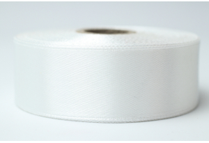 Атласная лента 2.5 см, однотонная, айвори