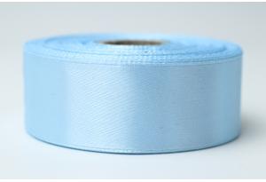 Атласная лента 2.5 см, однотонная, голубая