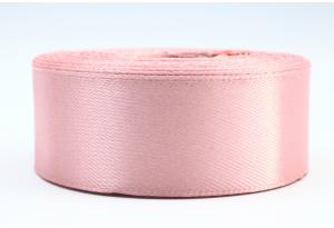 Атласная лента 2.5 см, однотонная, пастельно-розовая