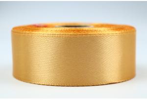 Атласная лента 2.5 см, однотонная, соломенная