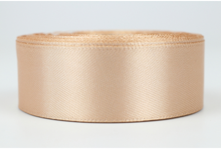 Атласная лента 2.5 см, однотонная, капучино