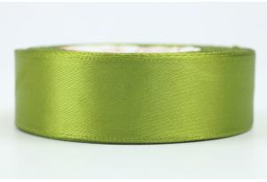 Атласная лента 2.5 см, однотонная, оливковая