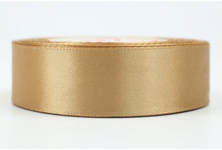 Атласная лента 2.5 см, однотонная, светло-карамельная, 161