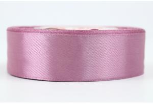 Атласная лента 2.5 см, однотонная, лилово-баклажанная, 118