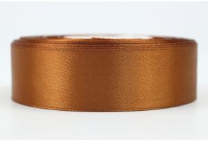 Атласная лента 2.5 см, однотонная, коричневая, 158