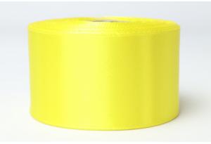 Атласная лента 4 см, однотонная, желтая
