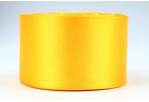 Атласная лента 5 см, однотонная, золото, 17